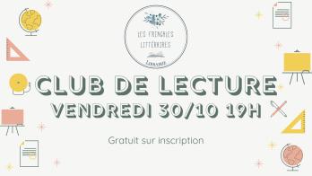 Club de lecture vendredi 30_10 19h